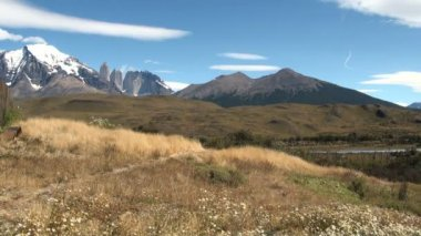 Torres del paine nationalpark — Stockvideo