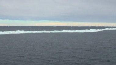 Antarctica - cloudy day — Stock Video