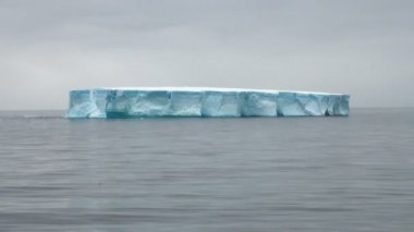 Antartica - Tabular Iceberg in Bransfield Strait — Stockvideo