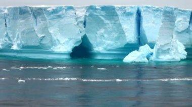Antartica - Tabular Iceberg in Bransfield Strait — Stock Video