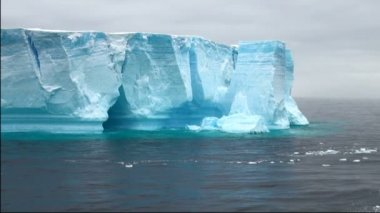 Antartica - Tabular Iceberg in Bransfield Strait — Wideo stockowe
