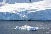 Coastline of Antarctica with ice formations — Stock Photo