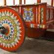 Typical Cart Wheel decorated — Stock Photo #44747799