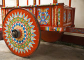 Typical Cart Wheel decorated — Stock Photo