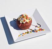 Bakery - Cupcake With Sprinkles — Stock Photo