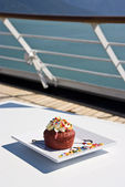 Alaska - Dessert On The Deck — Stock Photo
