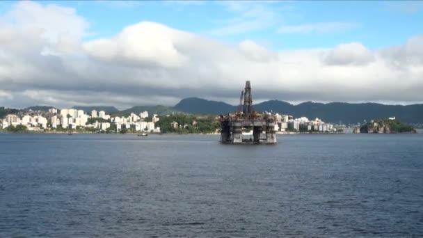 Brésil - plate-forme pétrolière à rio de janeiro — Vidéo