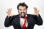 Crazy Man Letting Out Frustration — Stock Photo