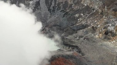 Poas Volcano Crater — Stock Video