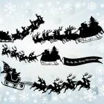 Santa Clause silhouettes — Stock Photo #7617602