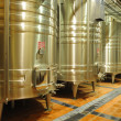 Modern tanks in winery - Stok fotoraf