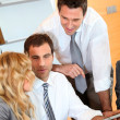 Group of business meeting around table — Stock Photo