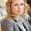 Stock Photo: Portrait of beautiful young businesswoman