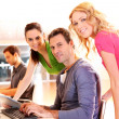 Students in computing training class — Stock Photo