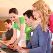 Students in computing training class — Stock Photo #13932112