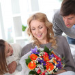 Stock Photo: Mother's day celebration in family