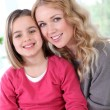 Portrait of happy mother and daughter — Stock Photo #13932693