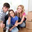 Family moving in new house — Stock Photo #13932698