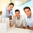 Team of architects working on project — Stock Photo #13933472