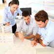 Team of architects working on project — Stock Photo #13933476