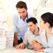 Stock Photo: Young architects in business meeting