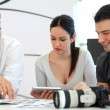 Work meeting in photo agency — Stock Photo #13933690