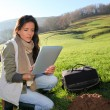 Woman scientist and environmental issues — Stock Photo #13934898