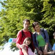 Portrait of happy family on a trekking day - Lizenzfreies Foto
