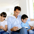 Stock Photo: No more communication in family