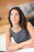 портрет работник офиса с задумчивый взгляд — Стоковое фото