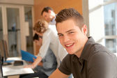 Portrait of student in classroom — Stock Photo