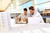 Young architects working on project — Stock Photo