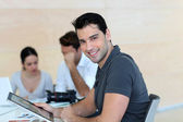 Young adult in business training — Stock Photo
