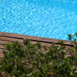 Closeup of private swimming pool — Stock Photo