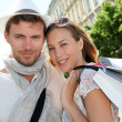 Smiling couple doing shopping in Bordeaux — Stock Photo #13941958