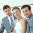 Portrait of smiling business team — Stock Photo #13942197