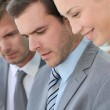 Portrait of smiling business in meeting — Stock Photo
