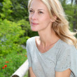 Portrait of beautiful blond woman - Stok fotoraf