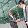Business shaking hands after meeting — Stock Photo