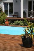 крупным планом частный бассейн — Стоковое фото