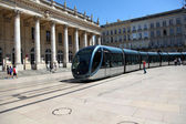 Tramway passing by the Grand Theatre of Bordeaux — Stock Photo