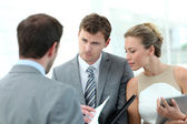 Business meeting for contract agreement — Stock Photo