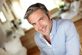 Portrait of handsome middle-aged guy — Stockfoto