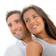 Portrait of happy young couple — Stock Photo