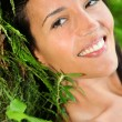 Attractive young womin natural vegetation — Stock Photo #13956962