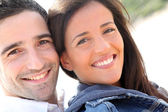 Portrait of happy young couple — Stockfoto
