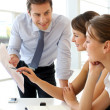 Manager presenting business plan to employees — Stockfoto #13960478