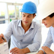 Architects working on project in office — Stock Photo #13960693