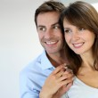 Portrait of married couple at home — Stock Photo #13961246