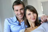 Portrait of married couple at home — Stock Photo